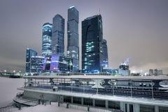 Grattacieli di Mosca in inverno Fotografia Stock Libera da Diritti