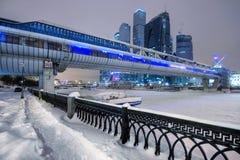 Grattacieli di Mosca in inverno Immagini Stock Libere da Diritti