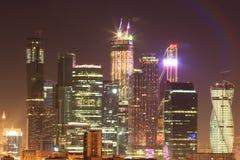 Grattacieli di Mosca, paesaggio urbano Fotografia Stock Libera da Diritti