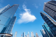 Grattacieli di Pudong, Shanghai, Cina Fotografie Stock Libere da Diritti
