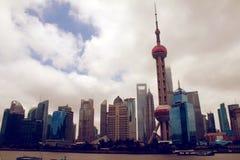 Grattacieli di Schang-Hai Lujiazui CBD Fotografie Stock Libere da Diritti