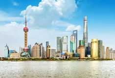 Grattacieli di Schang-Hai Lujiazui CBD Immagine Stock