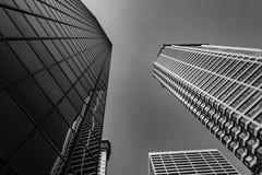 Grattacieli di Seattle in bianco e nero Immagine Stock Libera da Diritti