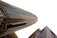Grattacieli di Seattle su bianco Fotografia Stock Libera da Diritti