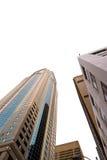 Grattacieli di Seattle su bianco Fotografia Stock