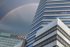 Grattacieli di Singapore Immagini Stock