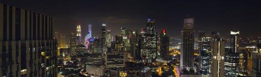 Grattacieli di Singapore nel distretto aziendale centrale Immagini Stock