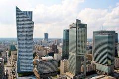 Grattacieli di Varsavia Fotografie Stock