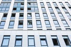 Grattacieli di vetro moderni della costruzione del centro di affari Immagini Stock Libere da Diritti