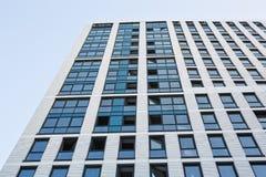 Grattacieli di vetro moderni della costruzione del centro di affari Fotografia Stock Libera da Diritti
