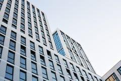 Grattacieli di vetro moderni della costruzione del centro di affari Fotografia Stock