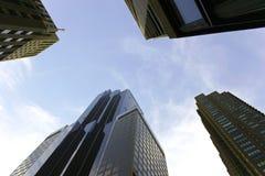 Grattacieli e cielo Fotografie Stock Libere da Diritti