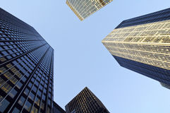 Grattacieli e cielo Fotografia Stock