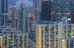 Grattacieli e luci Fotografie Stock