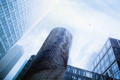 Grattacieli ed aereo Fotografie Stock Libere da Diritti
