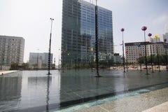 Grattacieli finanziari Parigi Francia di Défense della La degli uffici di distretto Fotografie Stock Libere da Diritti