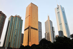 Grattacieli a guangzhou immagini stock