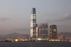 Grattacieli a Hong Kong Fotografie Stock Libere da Diritti