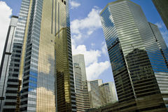 Grattacieli a Hong Kong Fotografia Stock Libera da Diritti