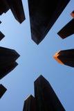 Grattacieli in megalopoli fotografia stock libera da diritti
