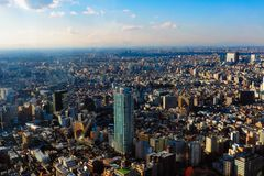 Grattacieli metropolitani di governo e di Shinjuku di Tokyo fotografia stock