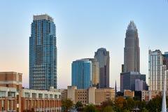 Grattacieli moderni a Charlotte, Nord Carolina Immagini Stock Libere da Diritti