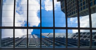 Grattacieli moderni comuni di affari Fotografie Stock Libere da Diritti