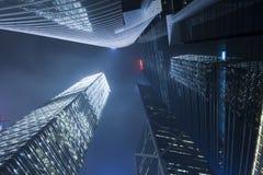 Grattacieli moderni della costruzione del centro di affari Immagini Stock Libere da Diritti