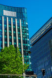 Grattacieli moderni di affari, alte costruzioni di vetro, archit moderno Fotografia Stock