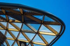 Grattacieli moderni di affari, alte costruzioni di vetro, archit moderno Immagini Stock Libere da Diritti