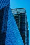 Grattacieli moderni di affari, alte costruzioni di vetro, archit moderno Immagine Stock