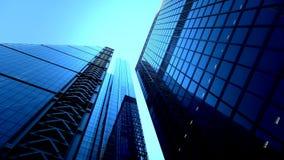 Grattacieli moderni di vetro video d archivio