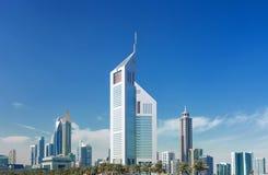 Grattacieli moderni e di lusso nel centro del Dubai, Emirati Arabi Uniti immagine stock libera da diritti