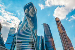Grattacieli in Mosca-Città Fotografie Stock