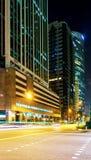 Grattacieli nel centro del centro del centro a Singapore al crepuscolo Fotografia Stock Libera da Diritti