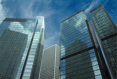 Grattacieli nel cielo blu Fotografie Stock