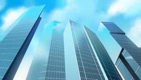 Grattacieli nella città Fotografia Stock Libera da Diritti
