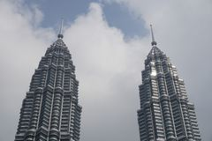 Grattacieli nella città di Kuala Lumpur immagini stock
