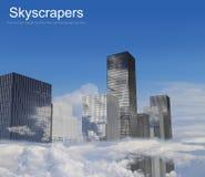 Grattacieli nelle nuvole Fotografie Stock