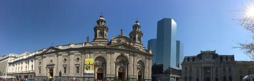 Grattacieli in peperoncino rosso di Santiago Immagine Stock Libera da Diritti