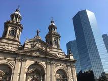 Grattacieli in peperoncino rosso di Santiago Immagine Stock