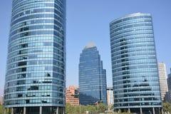 Grattacieli in peperoncino rosso di Santiago fotografia stock
