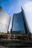 Grattacieli in piazza Gael Aulenti Fotografie Stock Libere da Diritti