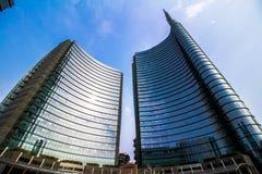 Grattacieli in piazza Gael Aulenti Immagini Stock