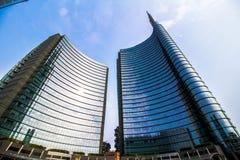 Grattacieli in piazza Gael Aulenti Immagini Stock Libere da Diritti