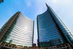 Grattacieli in piazza Gael Aulenti Fotografia Stock