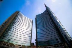 Grattacieli in piazza Gael Aulenti Fotografia Stock Libera da Diritti