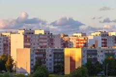 Grattacieli residenziali sul tramonto Fotografia Stock Libera da Diritti