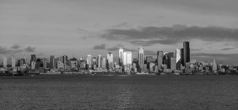 Grattacieli rigidi di Seattle Fotografia Stock Libera da Diritti