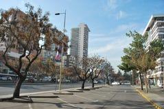 Grattacieli a Santiago, Cile Fotografie Stock Libere da Diritti